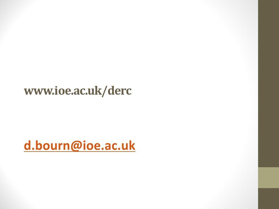 www.ioe.ac.uk/derc d.bourn@ioe.ac.uk
