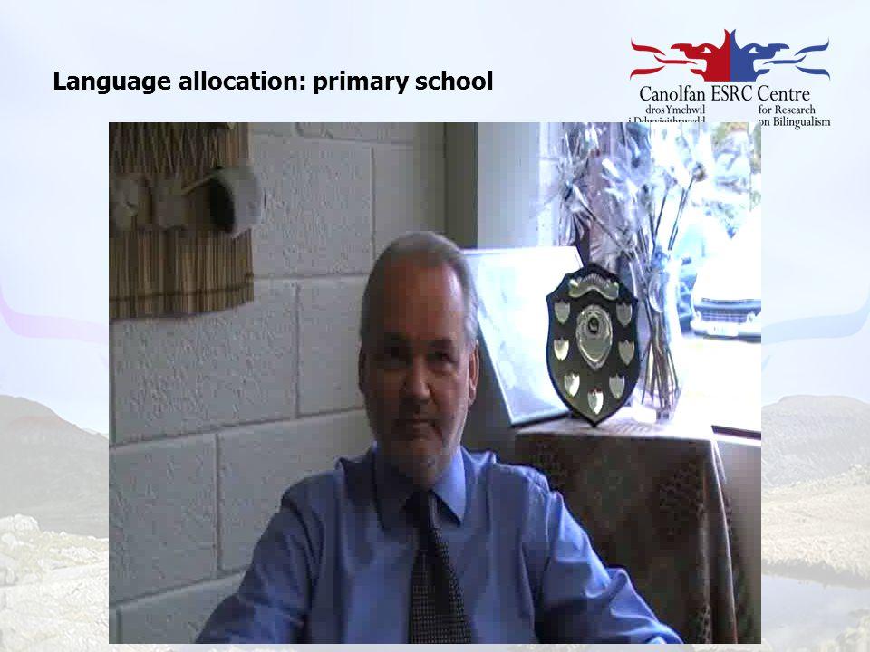 Language allocation: primary school