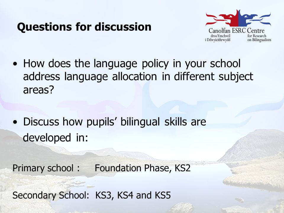 How does the language policy in your school address language allocation in different subject areas? Discuss how pupils' bilingual skills are developed