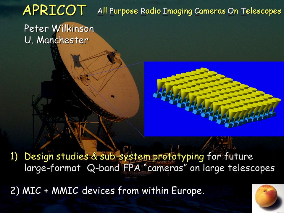 Science at Q-band Manchester 14-15 September 2009 Emerging Specification N pixels and configuration 25  100  Limits from optics: SRT ~30 beams for 0.5db loss  Configuration affects survey efficiency: hexagonal may not be best for beam-beam switching Tsys<50K  RX temperature <25K + sky ~ 25K.