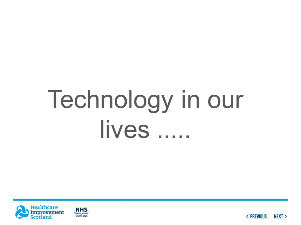 Technology in our lives.....