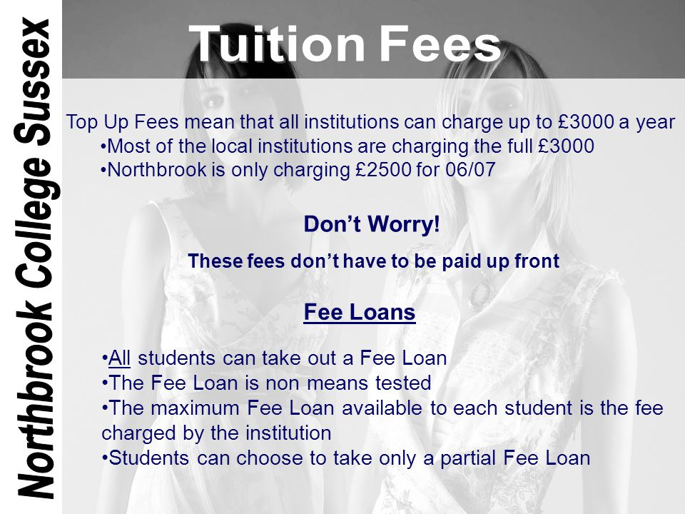 To provide support for students' living costs Maximum loan available to students studying locally is..£4405 This amount is slightly lower for students who will be..living at the parental address - £3415 75% of the maximum loan is available to all students The other 25% is means tested & earnings must be below..£50,000