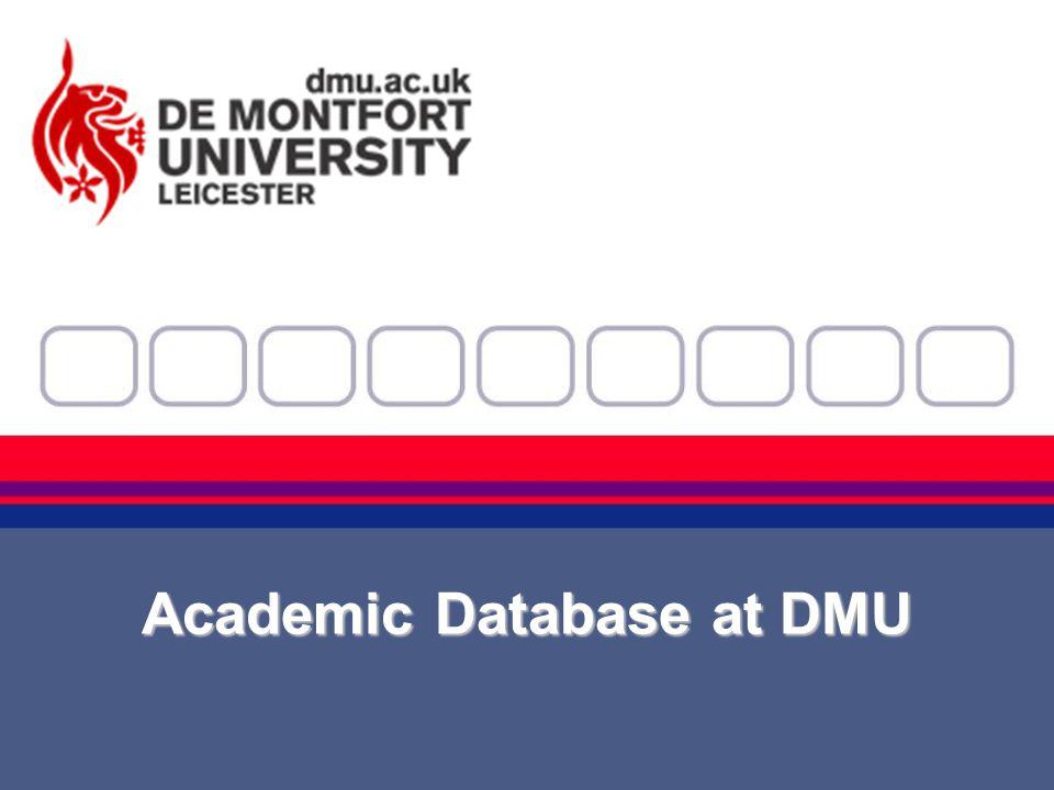 Academic Database at DMU