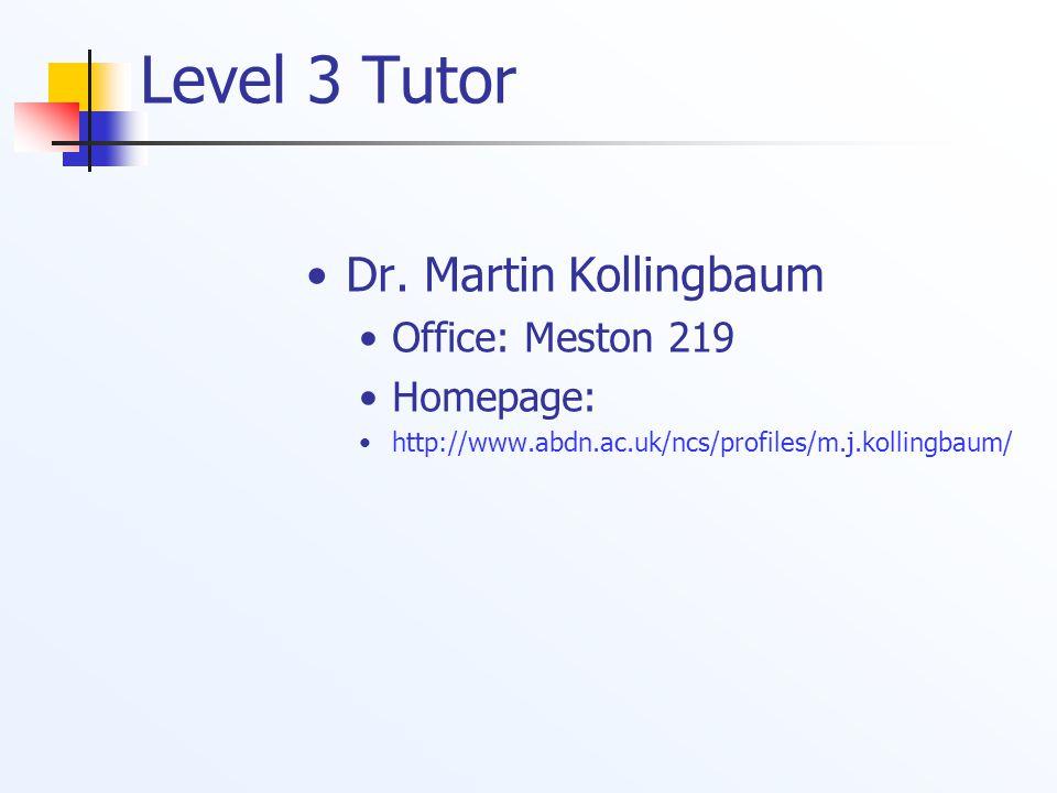 Level 3 Tutor Dr.