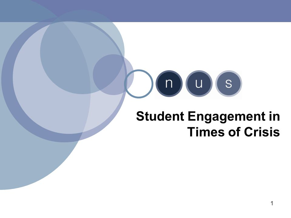 1 Student Engagement in Times of Crisis