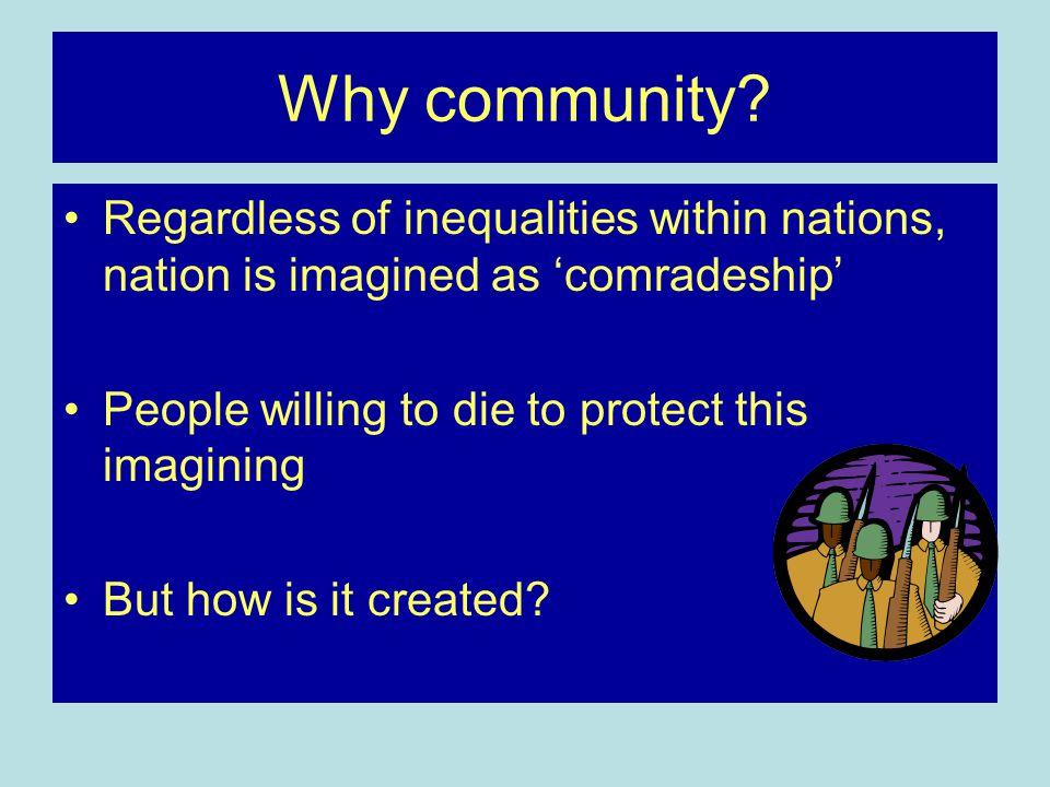 Why community.