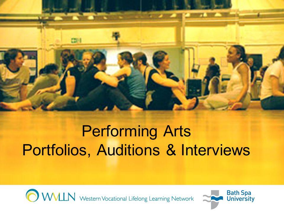 Performing Arts Portfolios, Auditions & Interviews