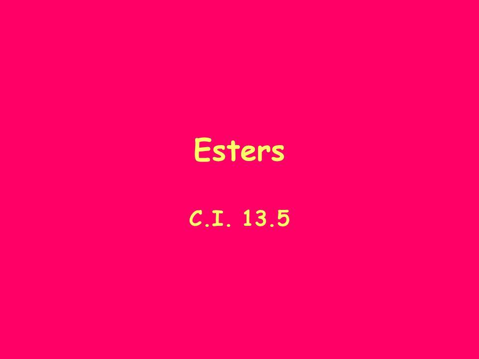 Esters C.I. 13.5