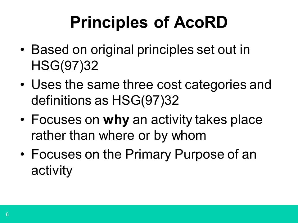 7 Main difference between AcoRD and ARCO DH will meet some research costs for charity- funded research taking place in the NHS, where the research grant funder is a member of the AMRC