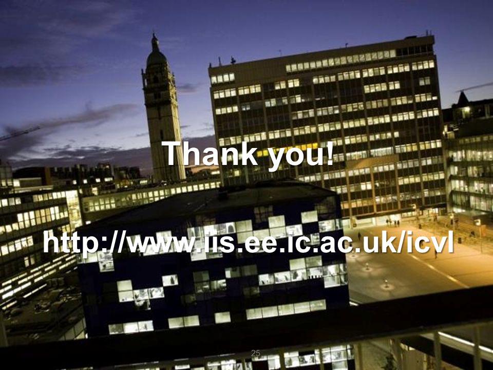 25 Thank you! http://www.iis.ee.ic.ac.uk/icvl