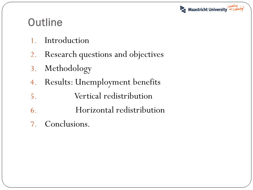 Outline 1. Introduction 2. Research questions and objectives 3.