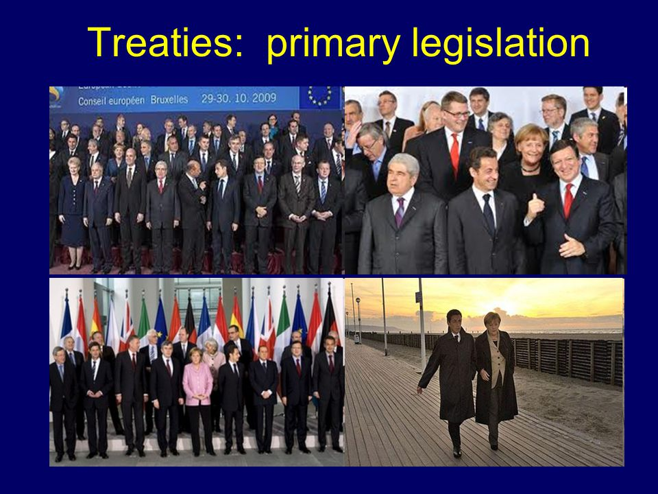 Treaties: primary legislation