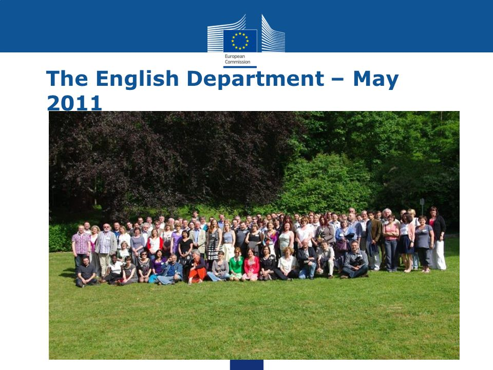 The English Department – May 2011
