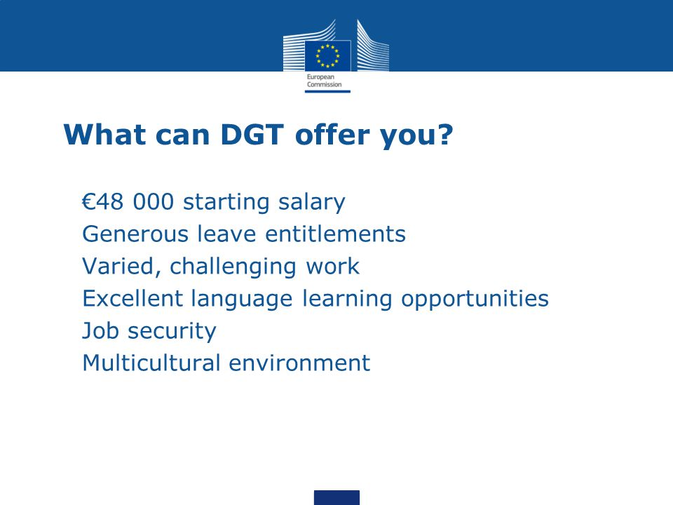 What can DGT offer you.