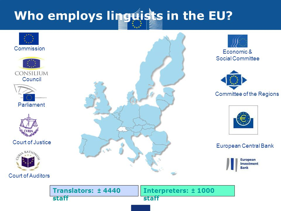 Who employs linguists in the EU.