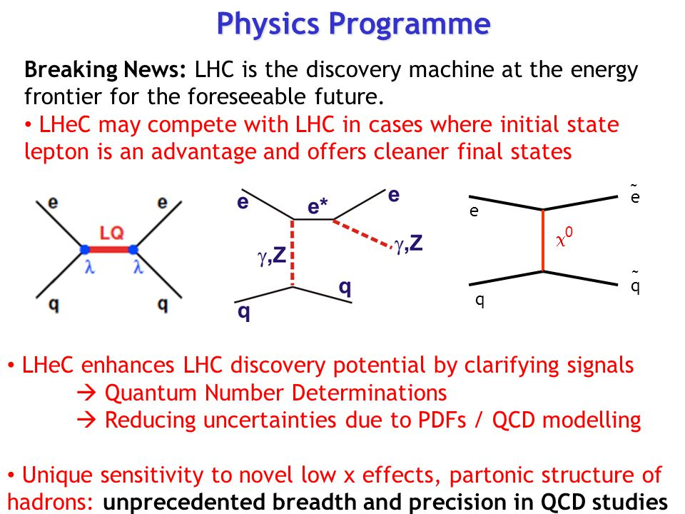 Physics Programme Breaking News: LHC is the discovery machine at the energy frontier for the foreseeable future.