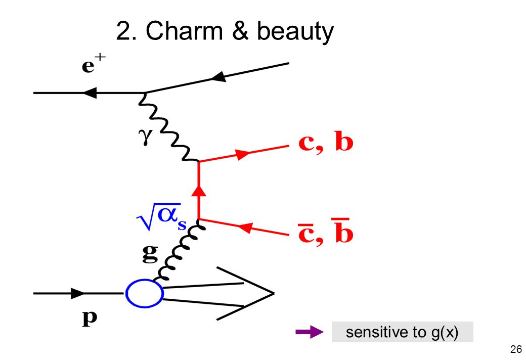 2. Charm & beauty sensitive to g(x) 26
