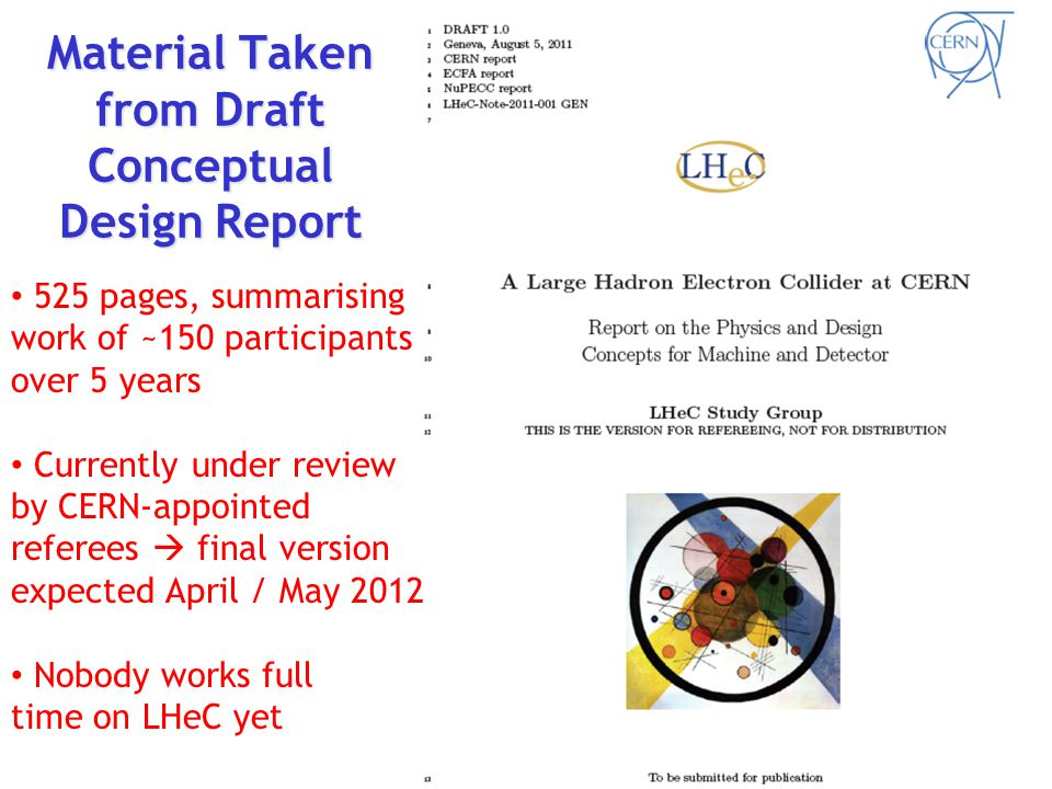 LHeC is the latest & most promising idea to take ep physics to the TeV centre-of-mass scale … … at high luminosity - A brief history of ep Physics - How to build an ep Collider based on the LHC - Detector considerations - Physics motivation - Proton structure / PDFs at low & high x - Precision QCD and electroweak physics - Electron – ion collisions - BSM physics - Timeline and outlook Contents
