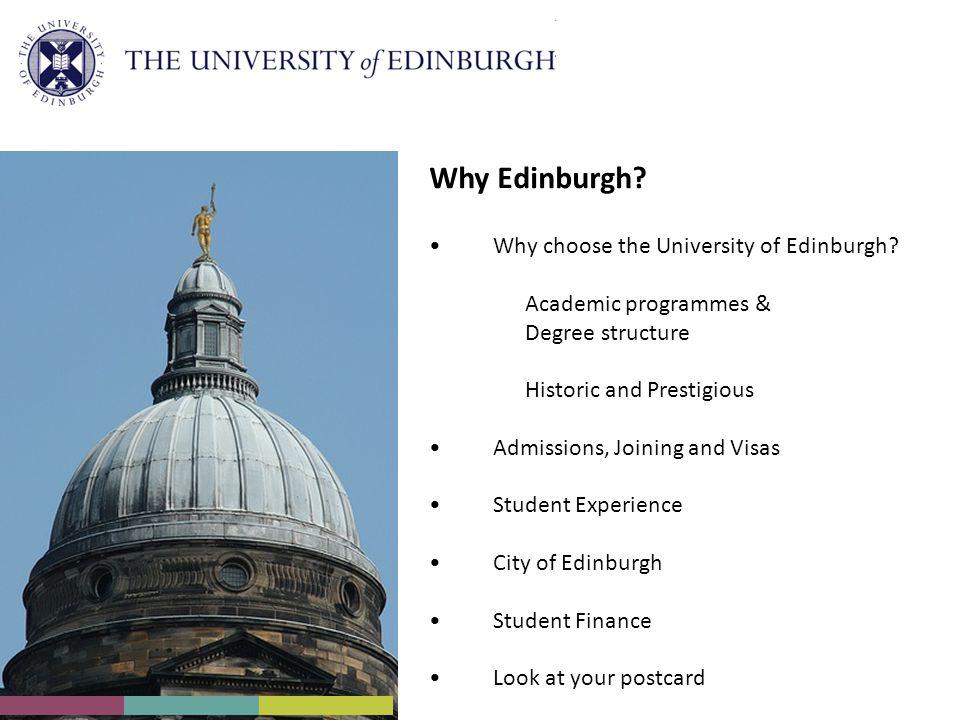 Why choose the University of Edinburgh.