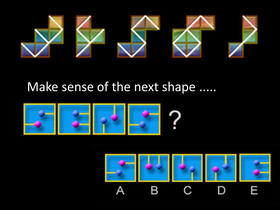 Make sense of the next shape.....