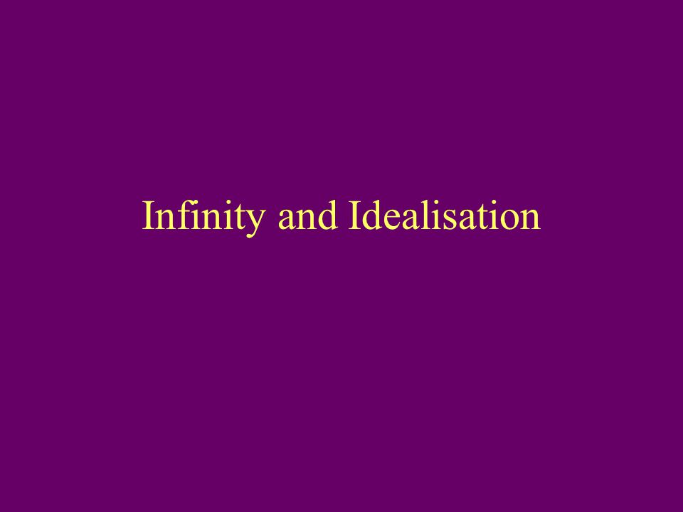 Infinity and Idealisation