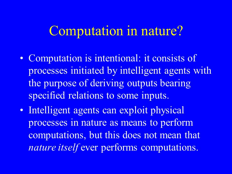 Computation in nature.