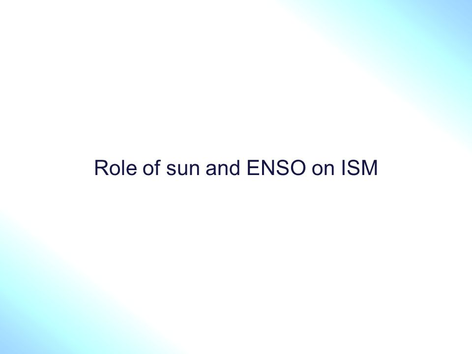 14 Multiple Regression Analysis Trend SSN Volcano ENSO