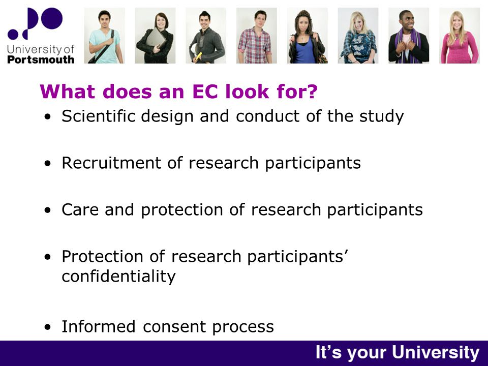What does an EC look for.