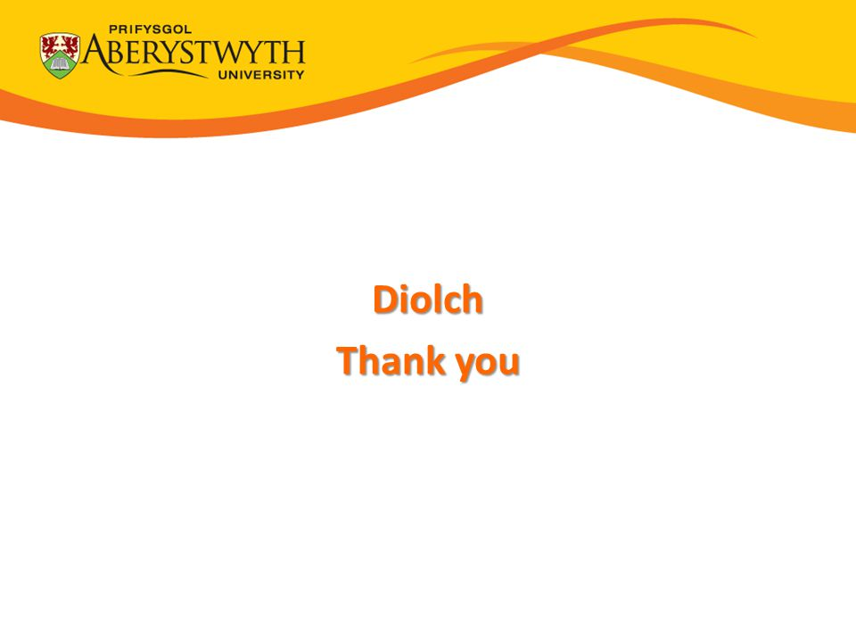 Thank You Diolch Thank you
