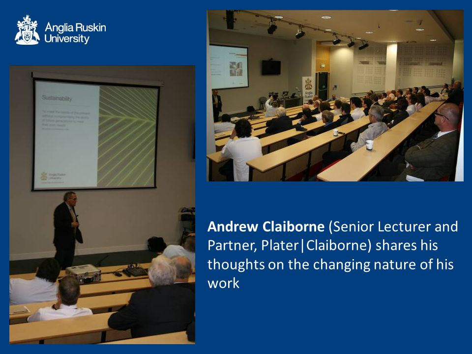 Andrew Claiborne (Senior Lecturer and Partner, Plater|Claiborne) shares his thoughts on the changing nature of his work