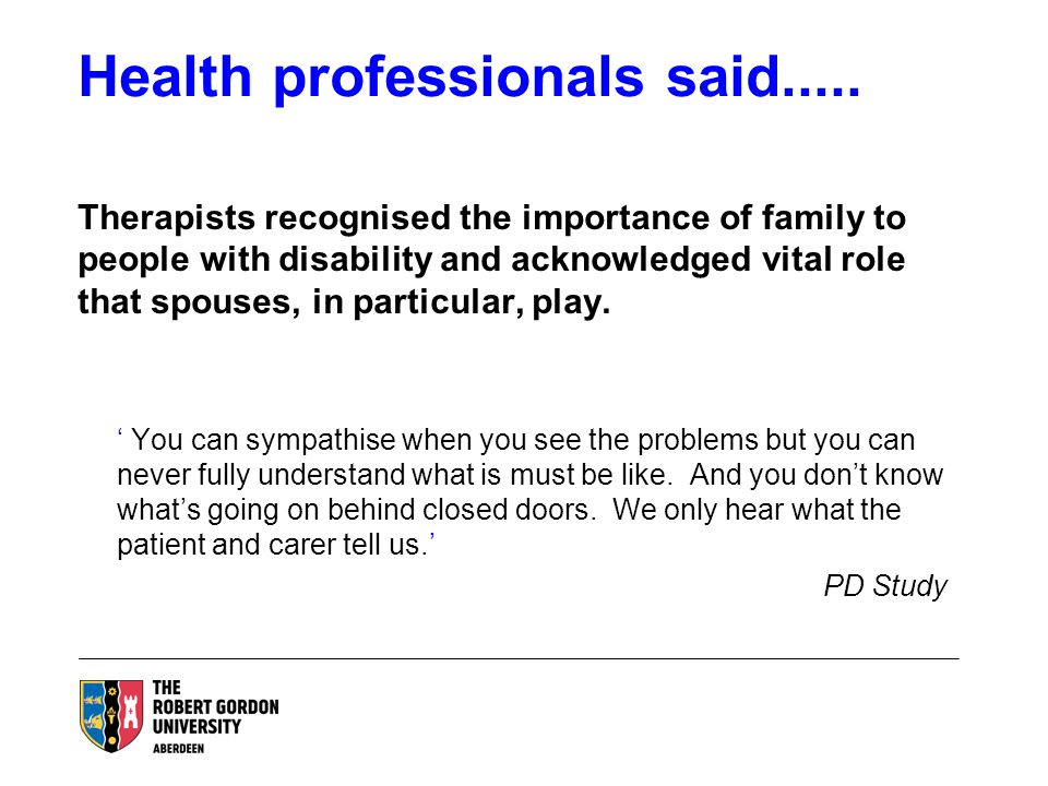 Health professionals said.....