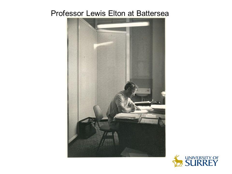 Professor Lewis Elton at Battersea