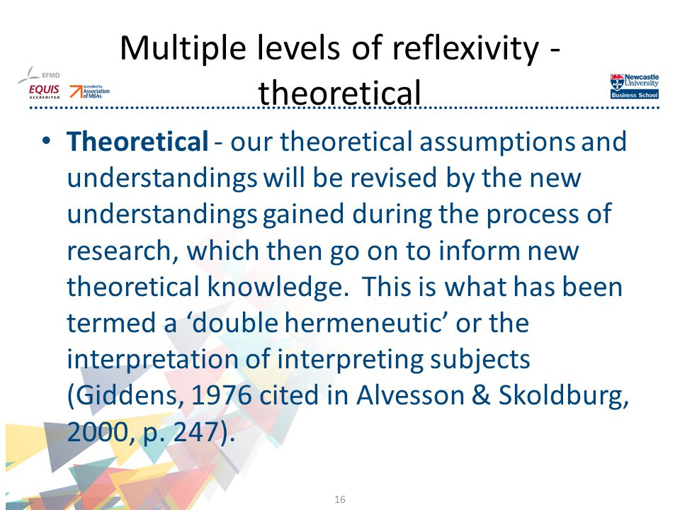Theoretical - our theoretical assumptions and understandings will be revised by the new understandings gained during the process of research, which then go on to inform new theoretical knowledge.