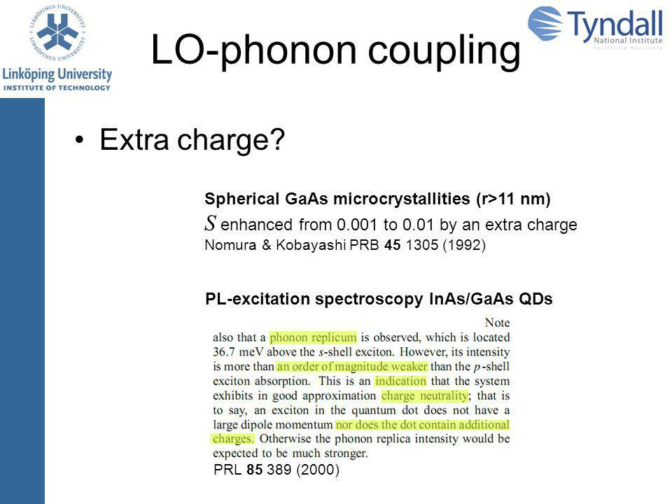 LO-phonon coupling Extra charge.