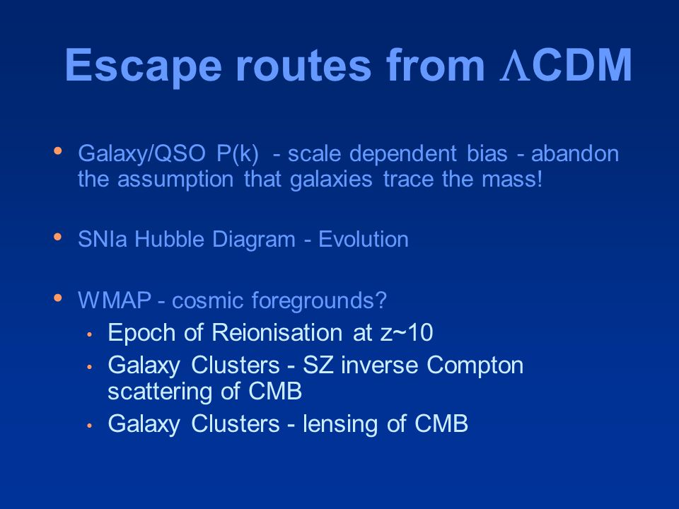 Escape routes from  CDM Galaxy/QSO P(k) - scale dependent bias - abandon the assumption that galaxies trace the mass .