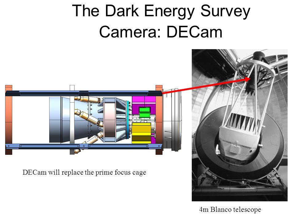 The Dark Energy Survey Camera: DECam DECam will replace the prime focus cage 4m Blanco telescope