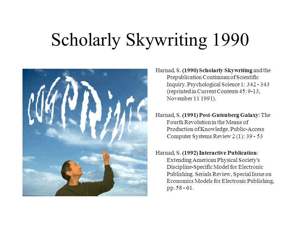 Scholarly Skywriting 1990 Harnad, S.