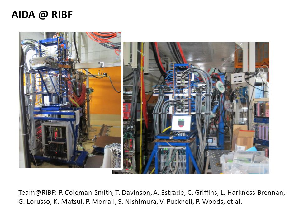 AIDA @ RIBF Team@RIBF: P. Coleman-Smith, T. Davinson, A.
