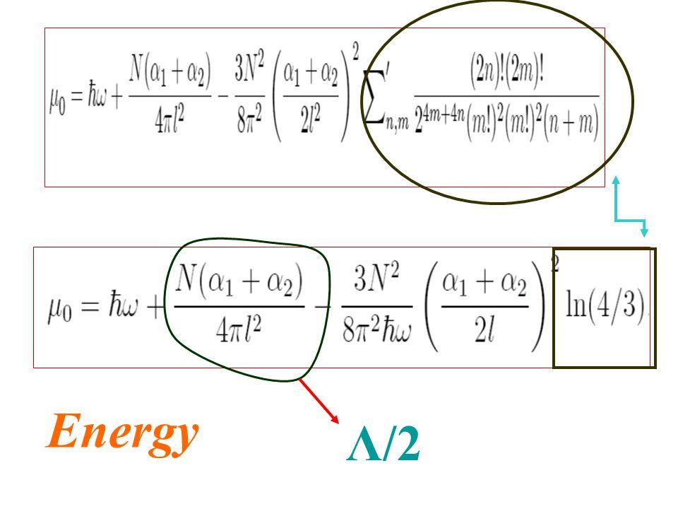 Energy Λ/2
