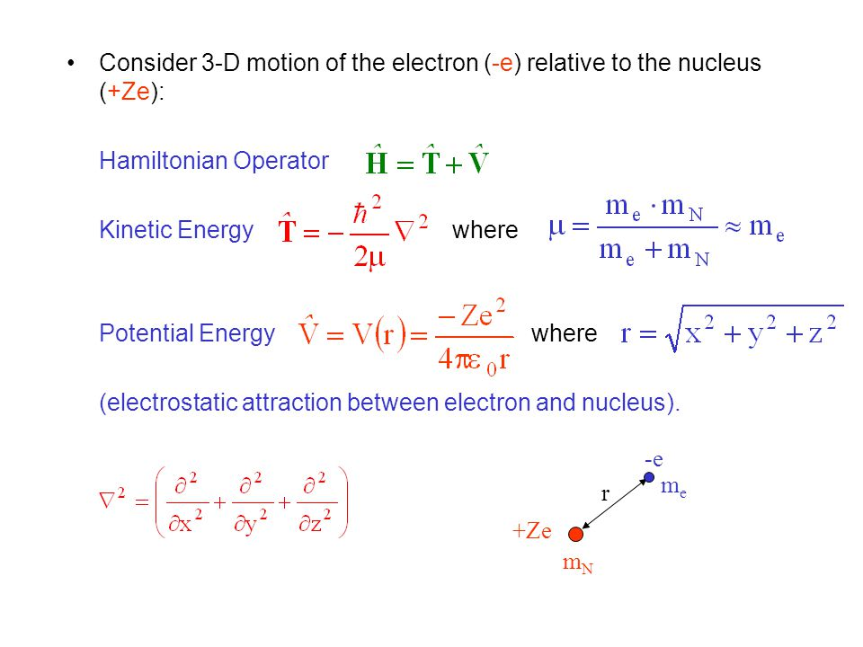 Linear Combination of Atomic Orbitals (LCAO) Approximation Construct MOs (  ) as linear combination of AOs (  ): c i = coefficients (numbers) = contribution of i th AO to the MO.