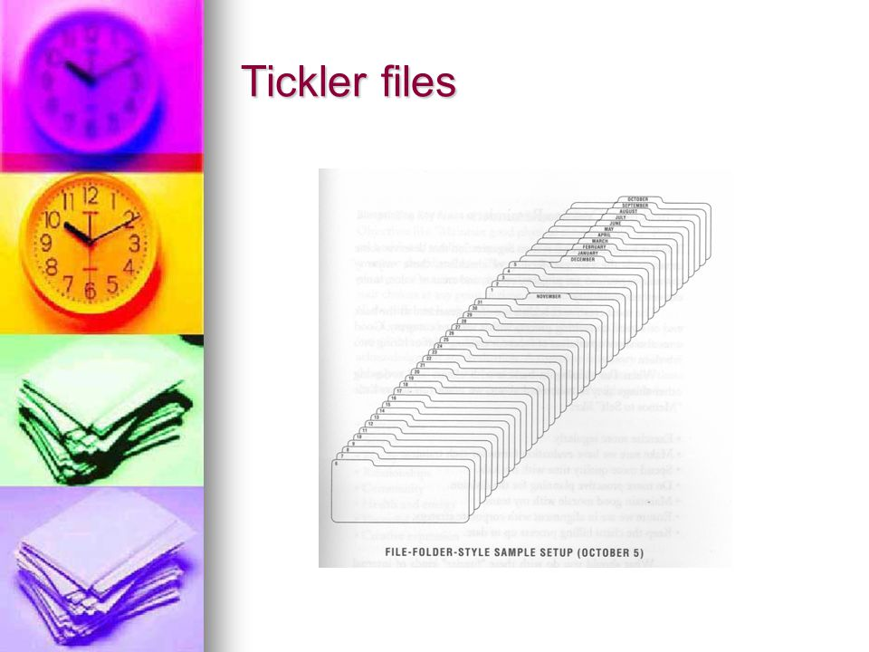 Tickler files