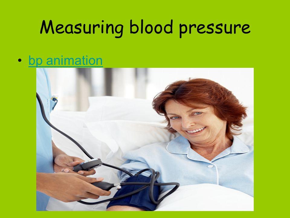 Measuring blood pressure bp animation