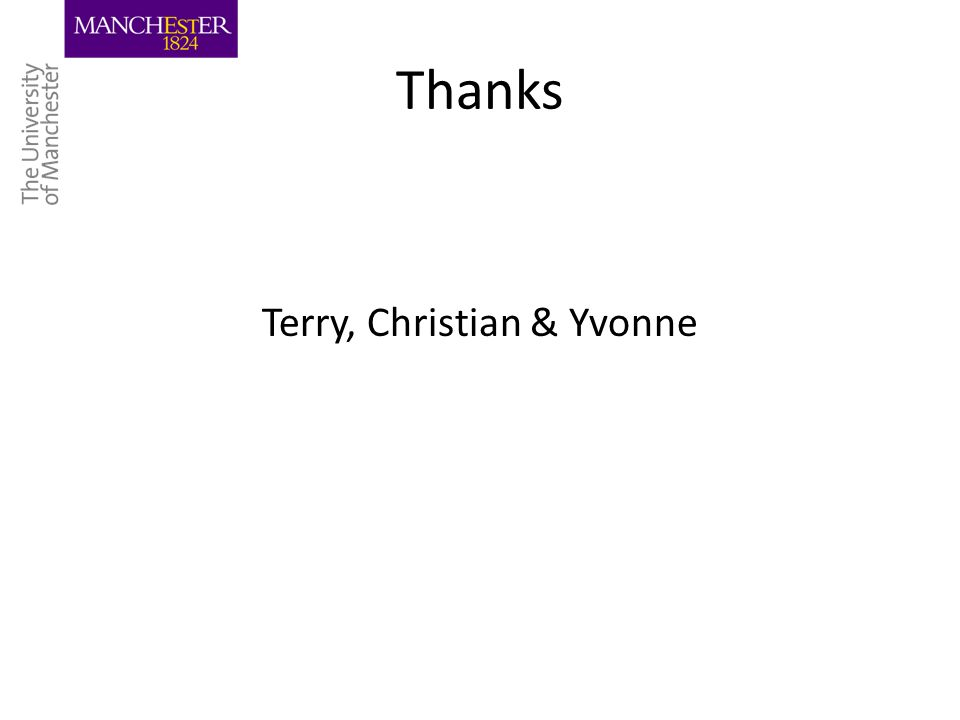 Thanks Terry, Christian & Yvonne