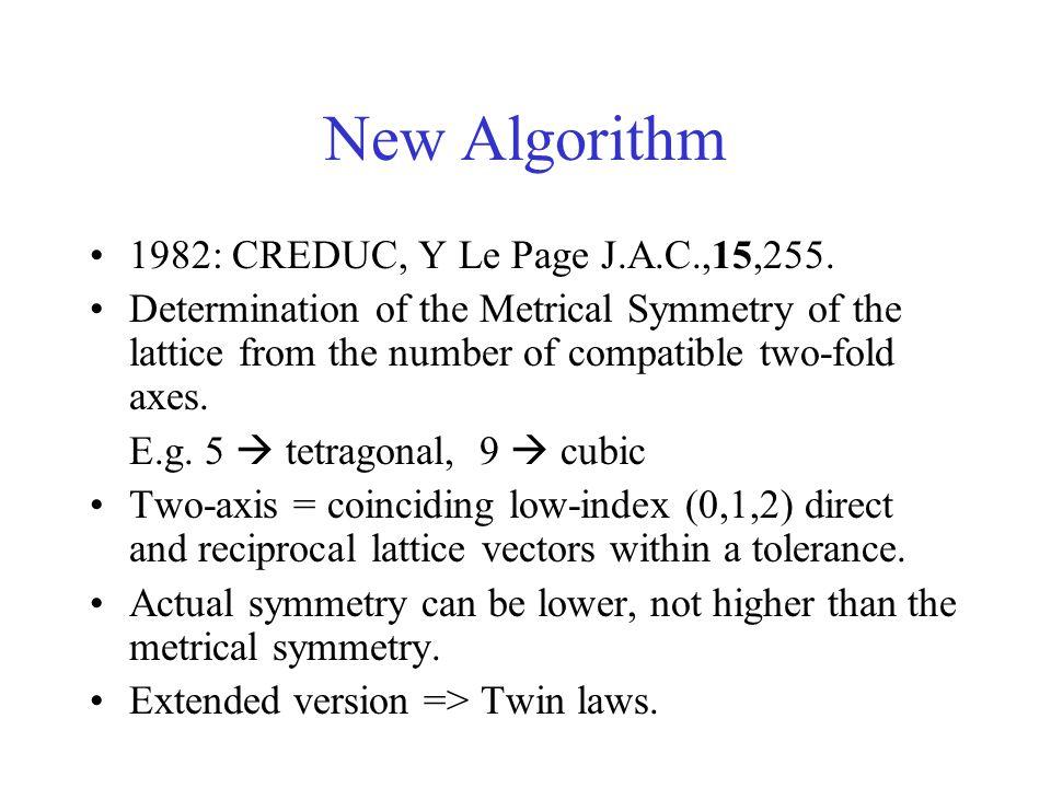 New Algorithm 1982: CREDUC, Y Le Page J.A.C.,15,255.