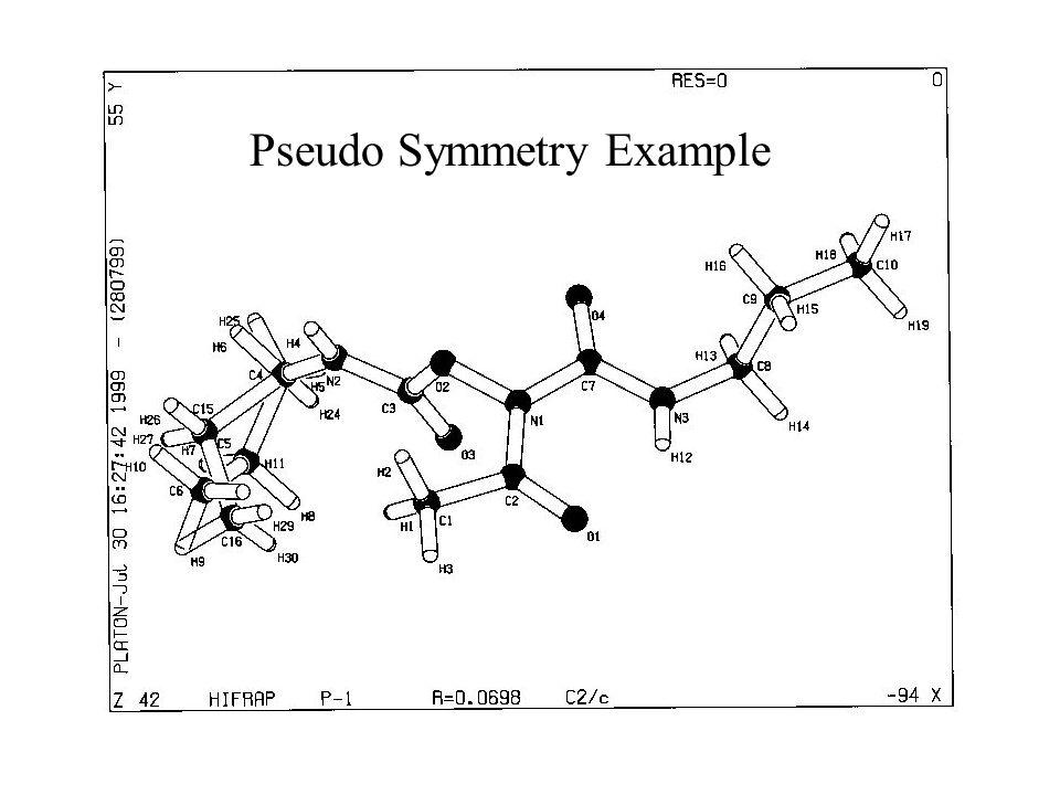 Pseudo Symmetry Example