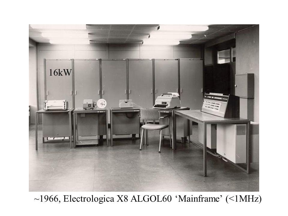~1966, Electrologica X8 ALGOL60 'Mainframe' (<1MHz) 16kW