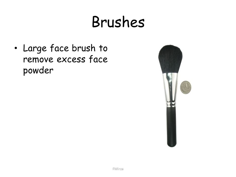 Brushes Large face brush to remove excess face powder FMirza