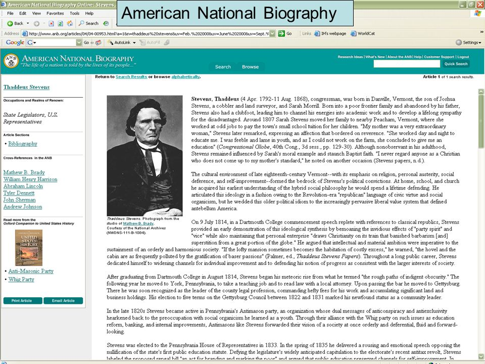 American National Biography