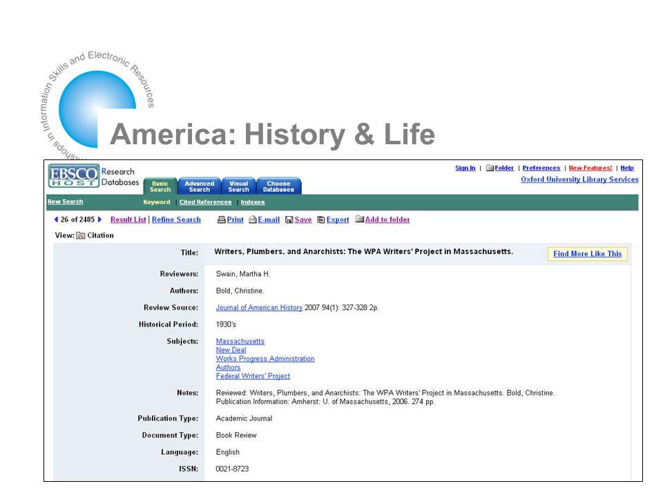America: History & Life