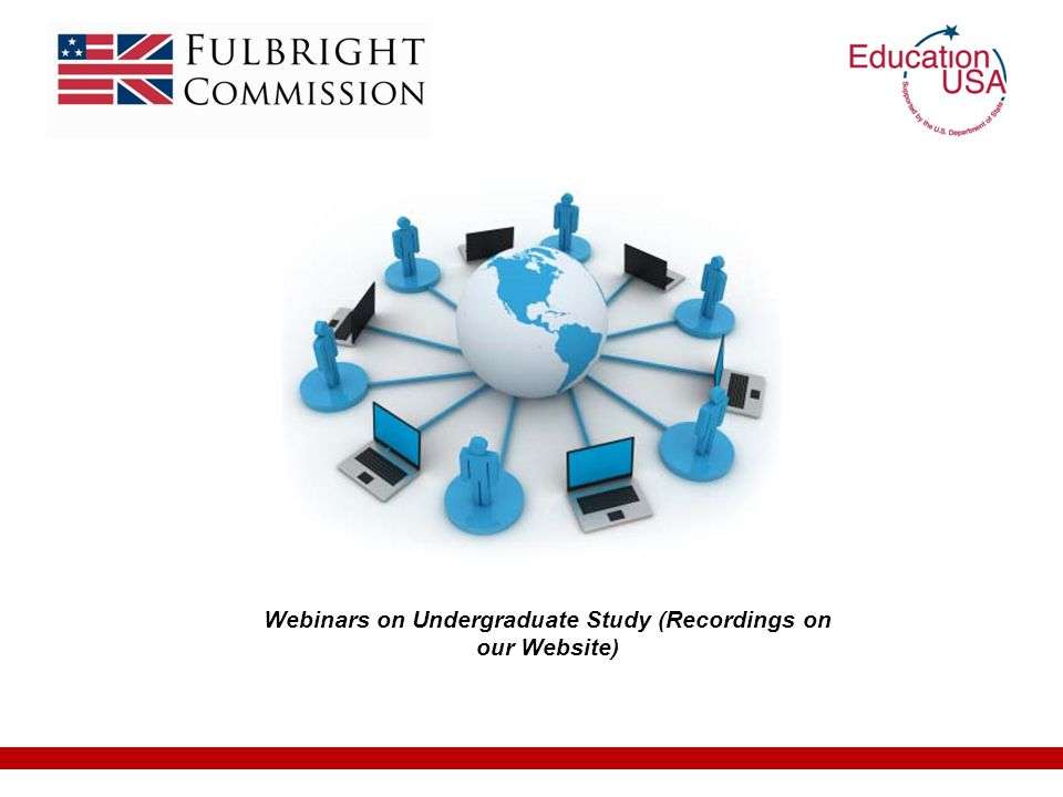 Webinars on Undergraduate Study (Recordings on our Website)